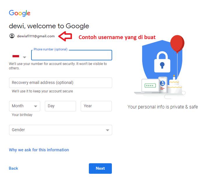 cara daftar di gmail