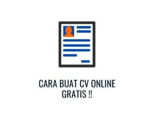 cara buat cv online