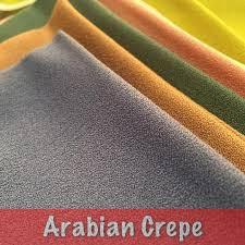 Ilustrasi Bahan Arabian Crepe (sumber: dintex)